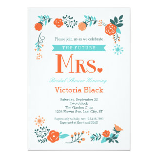 Future Mrs. Floral Bridal Shower Invitation