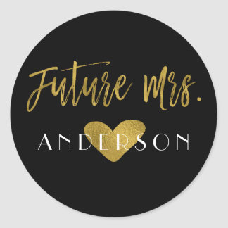 Future Mrs. Gold Foil Bridal Shower Sticker