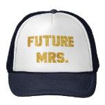 Future Mrs Gold Goil Bride Hat