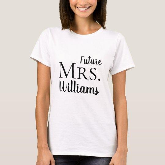 Future Mrs. Modern Bride Wedding T-Shirt