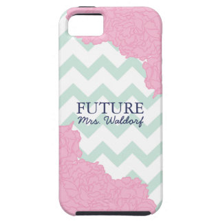 Future Mrs. Peonies and Chevron iPhone 5 Cover