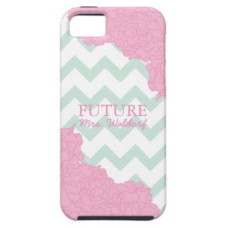Future Mrs. Peonies and Chevron iPhone 5 Covers