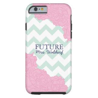 Future Mrs. Peonies and Chevron Tough iPhone 6 Case