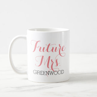 Future Mrs. Pink Script Coffee Mug