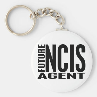 Future NCIS Agent Basic Round Button Key Ring