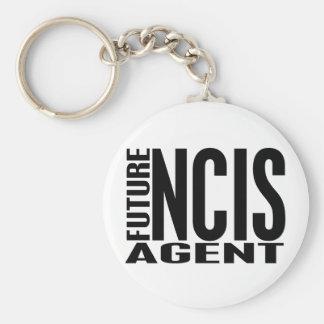 Future NCIS Agent Basic Round Button Key Ring