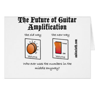 Future Of Guitar Amplification on White Card