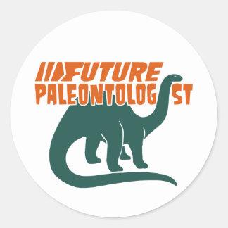 Future Paleontologist Classic Round Sticker