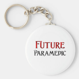 Future Paramedic Basic Round Button Key Ring