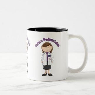 Future Pediatrician Little Girl Two-Tone Coffee Mug