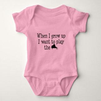 Future Piano Player Baby Bodysuit