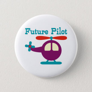 Future Pilot 6 Cm Round Badge