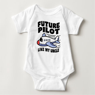 Future Pilot Like My Uncle Baby Bodysuit