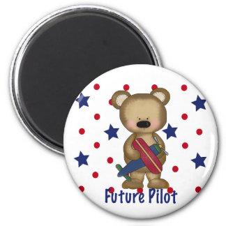 Future Pilot Little Bear 6 Cm Round Magnet