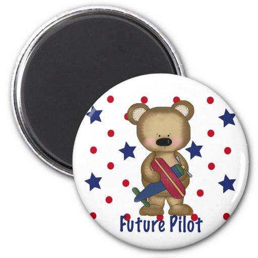 Future Pilot Little Bear Refrigerator Magnets