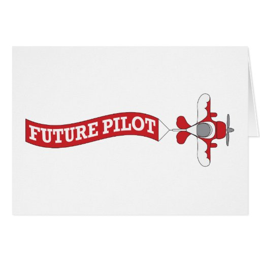 Future Pilot - Plane with Banner Card