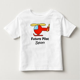 Future pilot t shirt for kids with toy helicopter t-shirt