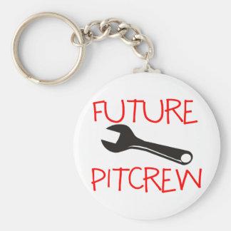 Future Pitcrew Basic Round Button Key Ring