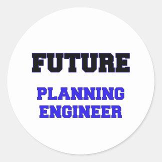 Future Planning Engineer Round Stickers