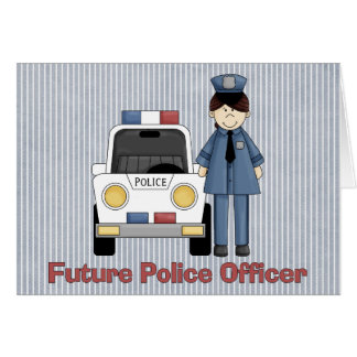 Future Police Officer - Female Greeting Card