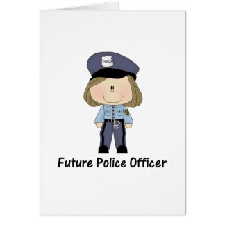 future police officer (girl) greeting card