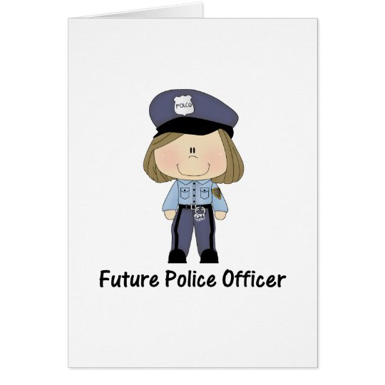 future police officer (girl) card