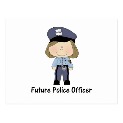 future police officer (girl) postcards | Zazzle