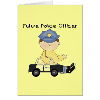 Future Police Officer Tshirts and Gifts Greeting Card