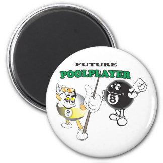 Future Pool Player 6 Cm Round Magnet