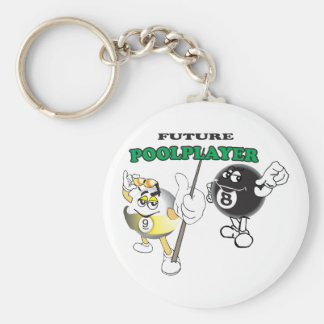 Future Pool Player Key Ring