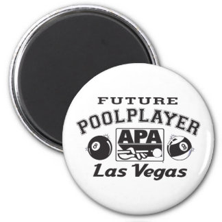 Future Pool Player Las Vegas 6 Cm Round Magnet