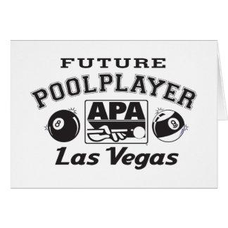 Future Pool Player Las Vegas Card