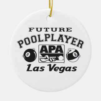 Future Pool Player Las Vegas Christmas Ornament