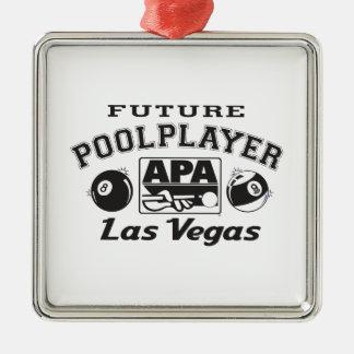 Future Pool Player Las Vegas Christmas Ornament
