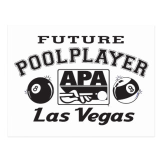 Future Pool Player Las Vegas Postcard