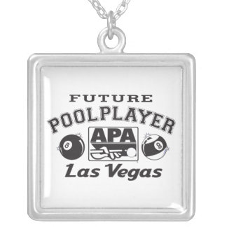 Future Pool Player Las Vegas Silver Plated Necklace