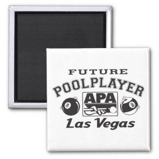 Future Pool Player Las Vegas Square Magnet
