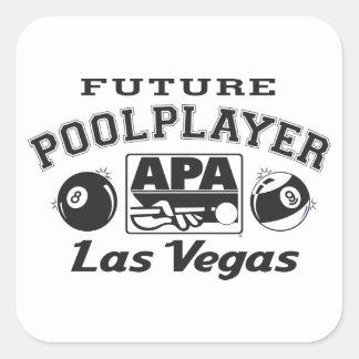 Future Pool Player Las Vegas Square Sticker