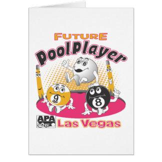Future Pool Player - Pink Card