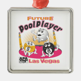 Future Pool Player - Pink Christmas Ornament