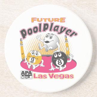 Future Pool Player - Pink Coaster