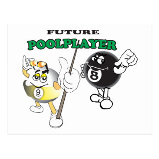 Future Pool Player Postcard