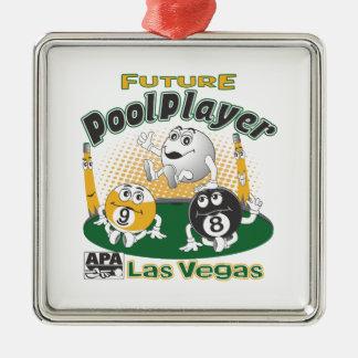 Future Pool Player - Yellow Christmas Ornament