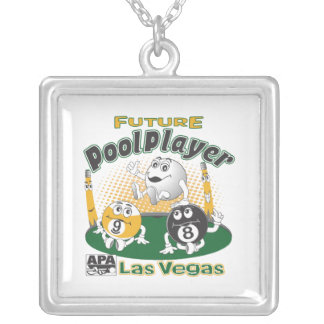 Future Pool Player - Yellow Silver Plated Necklace