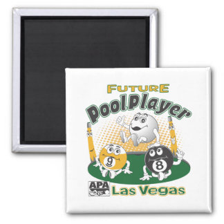 Future Pool Player - Yellow Square Magnet