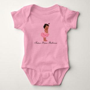 Future Prima Ballerina Pink Tutu Baby Onsie Baby Bodysuit