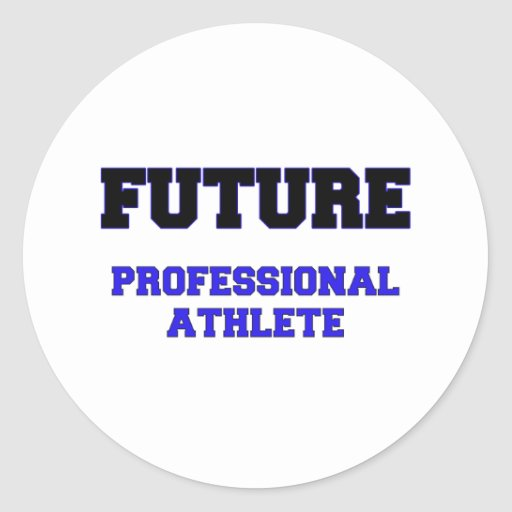 Future Professional Athlete Round Sticker