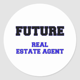 Future Real Estate Agent Round Stickers