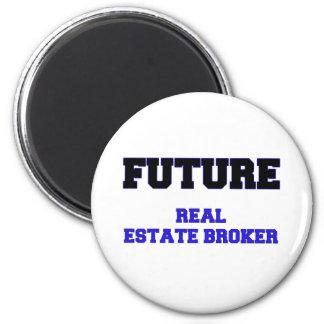 Future Real Estate Broker Fridge Magnets