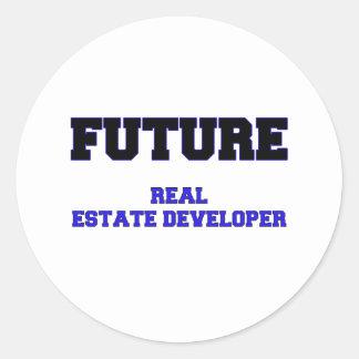 Future Real Estate Developer Round Sticker